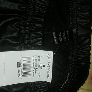 3877fff005a Ashley Stewart Pants - Ashley Stewart Black faux leather stretch pants